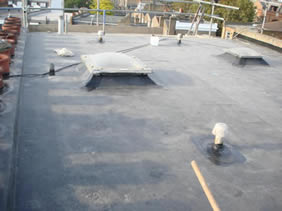 Mechanical install of EPDM roofing system