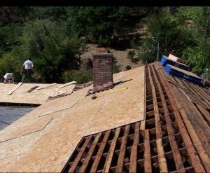 asphalt shingle installation new decking