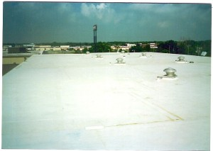 White EPDM roofing system sheet good