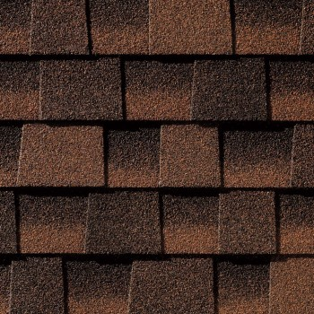 Close up photo of GAF's Timberline Ultra HD Hickory shingle swatch